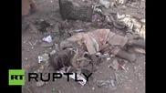 Yemen: Bodies lay strewn across the ground after Saudi airstrikes hit Hazm *GRAPHIC*