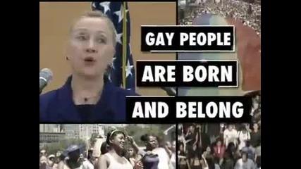 Кратка версия на историческата реч на Хилари Клинтън за правата на хомосексуалните по света в Женева