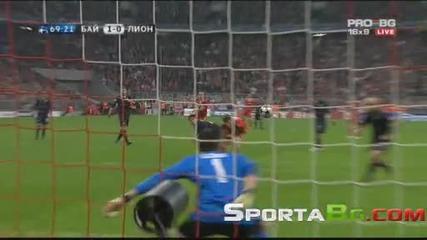 Байерн Мюнхен 1 - 0 Лион 1/2 - финал Шампионска Лига (21.04.2010)