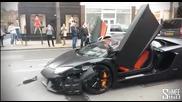 Катастрофа с Lamborghini on London street