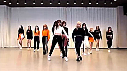 Izone - Fiesta dance practice mirrored