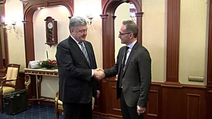 Ukraine: German foreign minister meets Poroshenko