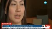 Виолина Анчева дари рокля на бедно филипинско момиче
