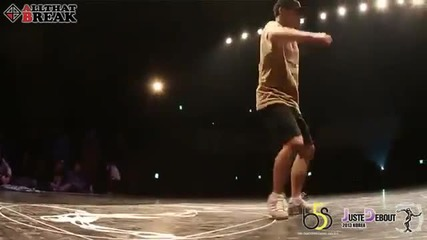 Ducky vs Beast Toprock Battle Final Juste Debout 2013 Korea breakdance hip hop power move