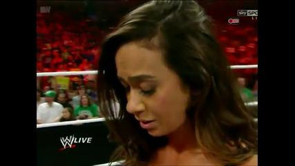 Daniel Bryan предлага брак на Aj и тя приема! [ Wwe Raw; 16.7.12 ]