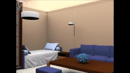 Компютърна анимация на стая