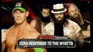 Джон Сина отново ще извика чудовищата (по-късно в шоуто) / Първична сила 17.03.14 г.
