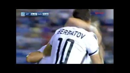 27.09 Димитър Бербатов с първи гол за Паок срещу Атромитос !
