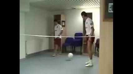 C.ronaldo And Deco Playing Tennis :d:d:d:d