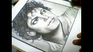 Tribute to the King of Pop Michael Jackson Portrait