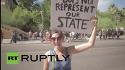 USA: 'Deport Donald Trump,' say Phoenix protesters