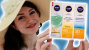Бюджетни слънцепредпазни продукти. Koй е най-подходящ за вашата кожа и кой е моят любим | Ревю NIVEА