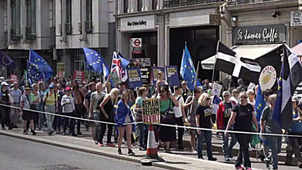 UK: Protesters hold anti-Brexit march in central London