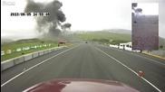Самолет катастрофира по време на изпитания