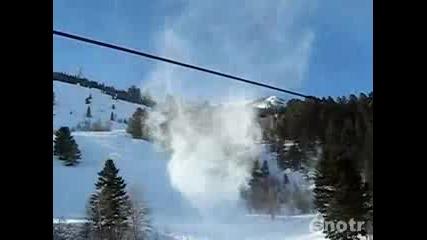 Много яко снежно торнадо !