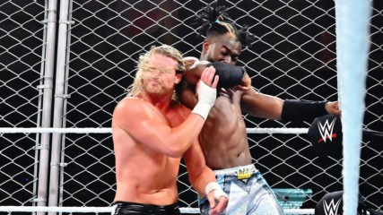 Kofi Kingston repeatedly hurls Dolph Ziggler into the steel cage: WWE Stomping Grounds 2019 (WWE Network Exclusive)