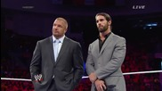 Seth Rollins explains how it felt turning his back on The Shield: Wwe Main Event, June 10, 2014