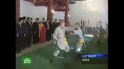 Владимир Путин  в Манастира  Шао Лин