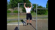 Muscle up Pushup Reverse Pyramid Superset