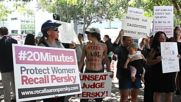 USA: Protesters demand Judge Persky's recall as Brock Turner is freed from jail *EXPLICIT*