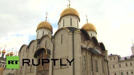 Русия: Вижте първата смяна на кавалерийската стража за 2015 година