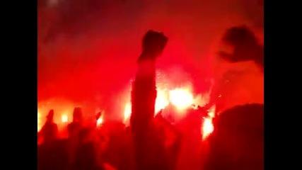 Сектор Б се забавлява ! Левски - Берое стадион Георги Аспарухов - Герена 11 август 2013година.