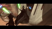Star wars episode 2 всички битки с лазерен меч