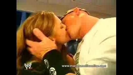 WWE - John Cena Kisses Maria