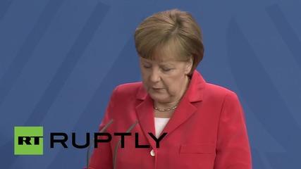 Германия: Според Меркел Русия може да изиграе важна роля в стабилизирането на Сирия
