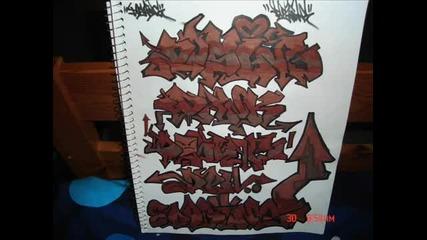 скица на яки графити
