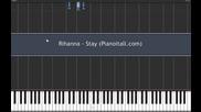 Лесен урок по пиано Rihanna - Stay