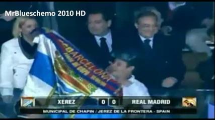 Фен на Барселона си прави гавра с Флорентино Перес