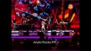 Anahi canta Un poco de tu amor, Tras de mi, Desaparecio en vivo
