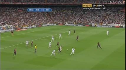 Фамозно докосване на Роналдо и гол срещу Барселона!