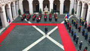 Italy: Conte receives ceremonial guard of honour as he leaves office