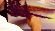 S06 Радостта на живописта с Bob Ross E08 - западен хоризонт ღобучение в рисуване, живописღ