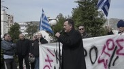 Greece: Golden Dawn supporters protest against refugee centre in Peiraeus