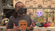 Workshop designs face shields in the shape of 'Mexican skulls' as COVID protection