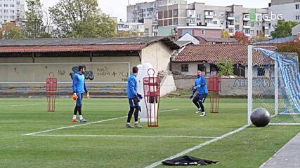 Левски с последна тренировка преди мача в Разград