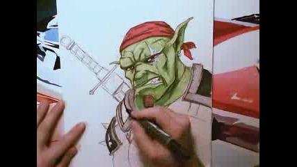 Някакъв луд рисува орк
