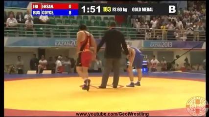 Руски борец показа на противника си за секунди какво е да си майстор в спорта!