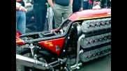 Двигател на мотор с 48 Цилиндърa !