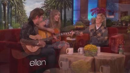 Тейлър Суифт и Зак Ефрон пеят в дует в шоуто на Елън!