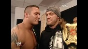 Edge, Randy Orton and Kelly Kelly backstage (funny)