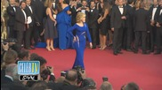 Jane Fonda's Slays Cannes in Versace Cut Out Dress!