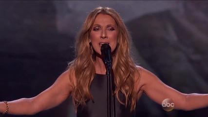 В памет на жертвите на атентати * Celine Dion - Hymne a Lamour (live at American Music Awards 2015)