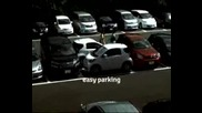 Ето как се паркирват 2 коли на парко място предназначено за 1 кола ) !!!