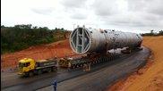 Транспортиране на 500 тонен реактор !