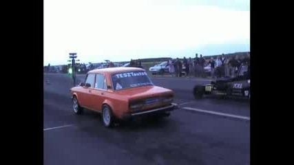 Lada Mv6 Vs. Bmw dragster Drag Race