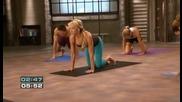 Фитнес тренировка, съчетание между пилатес и йога- релефна горна част на тялото